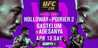 UFC 236: Holloway vs. Poirier 2 event poster