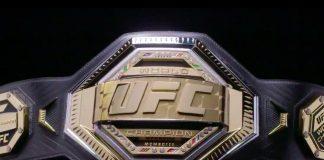 UFC Championship belt view