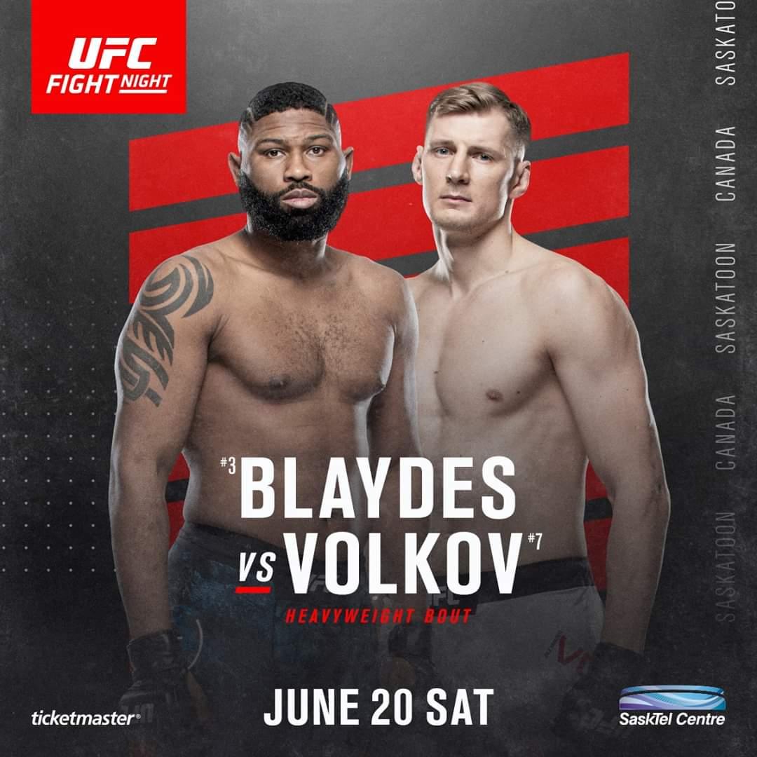 Watch UFC on ESPN Blaydes vs. Volkov 6/20/20Full Show