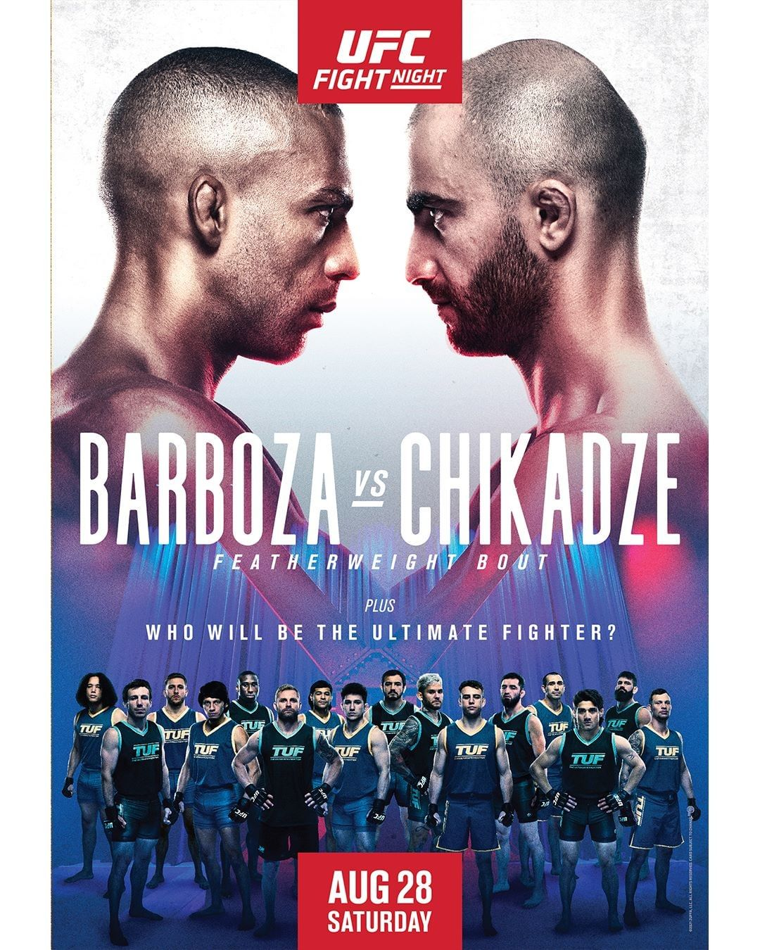 UFC Fight Night 195 Fight Card Poster