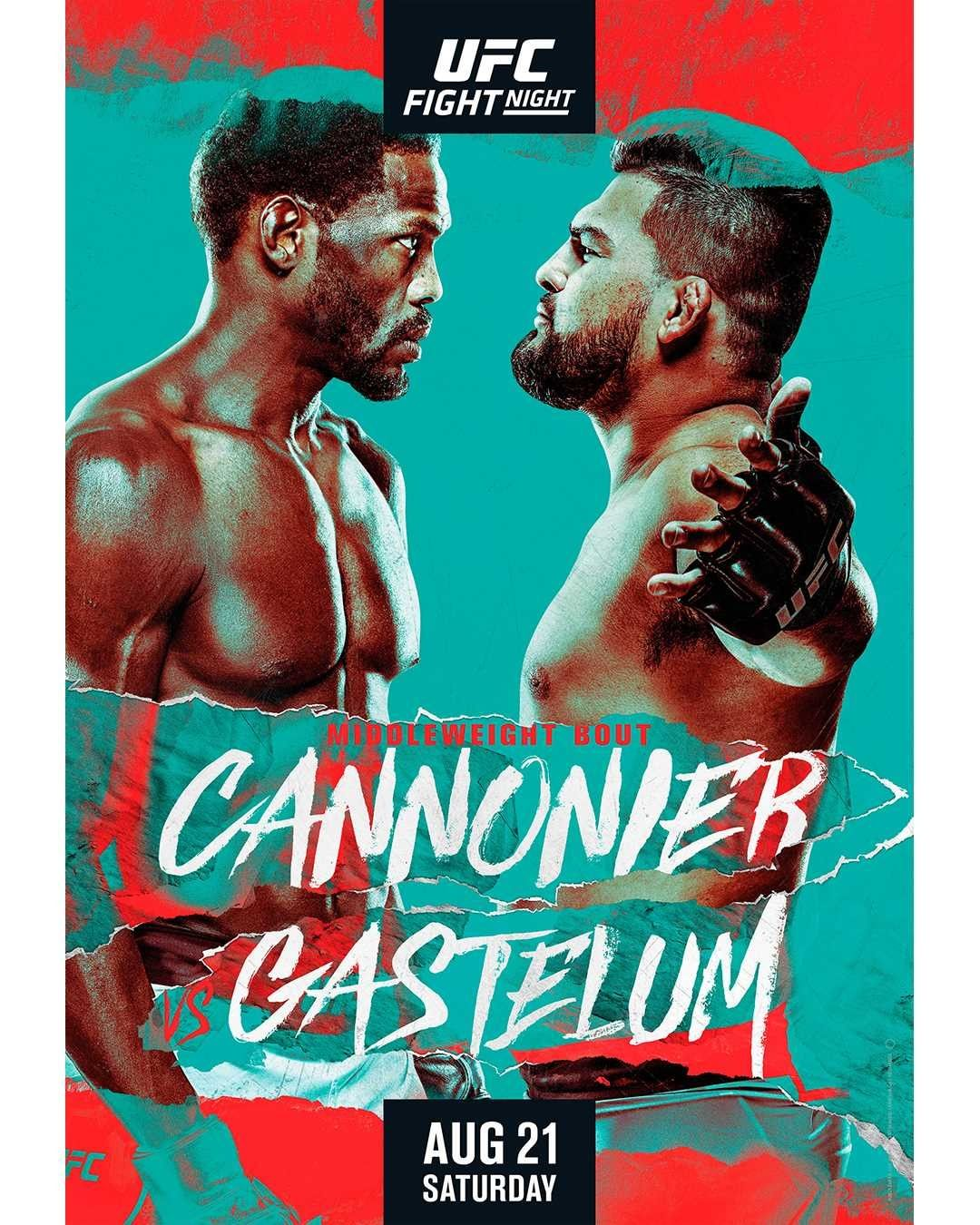 UFC Fight Night 194 Fight Card Poster