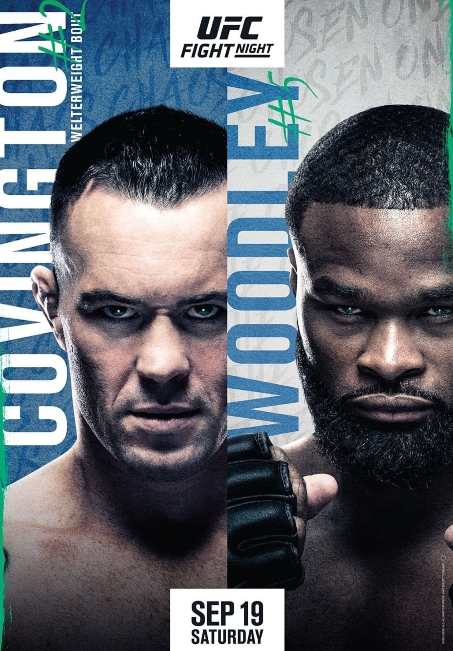 LOOK: UFC Fight Night 178 Poster for 'Covington vs. Woodley' Released