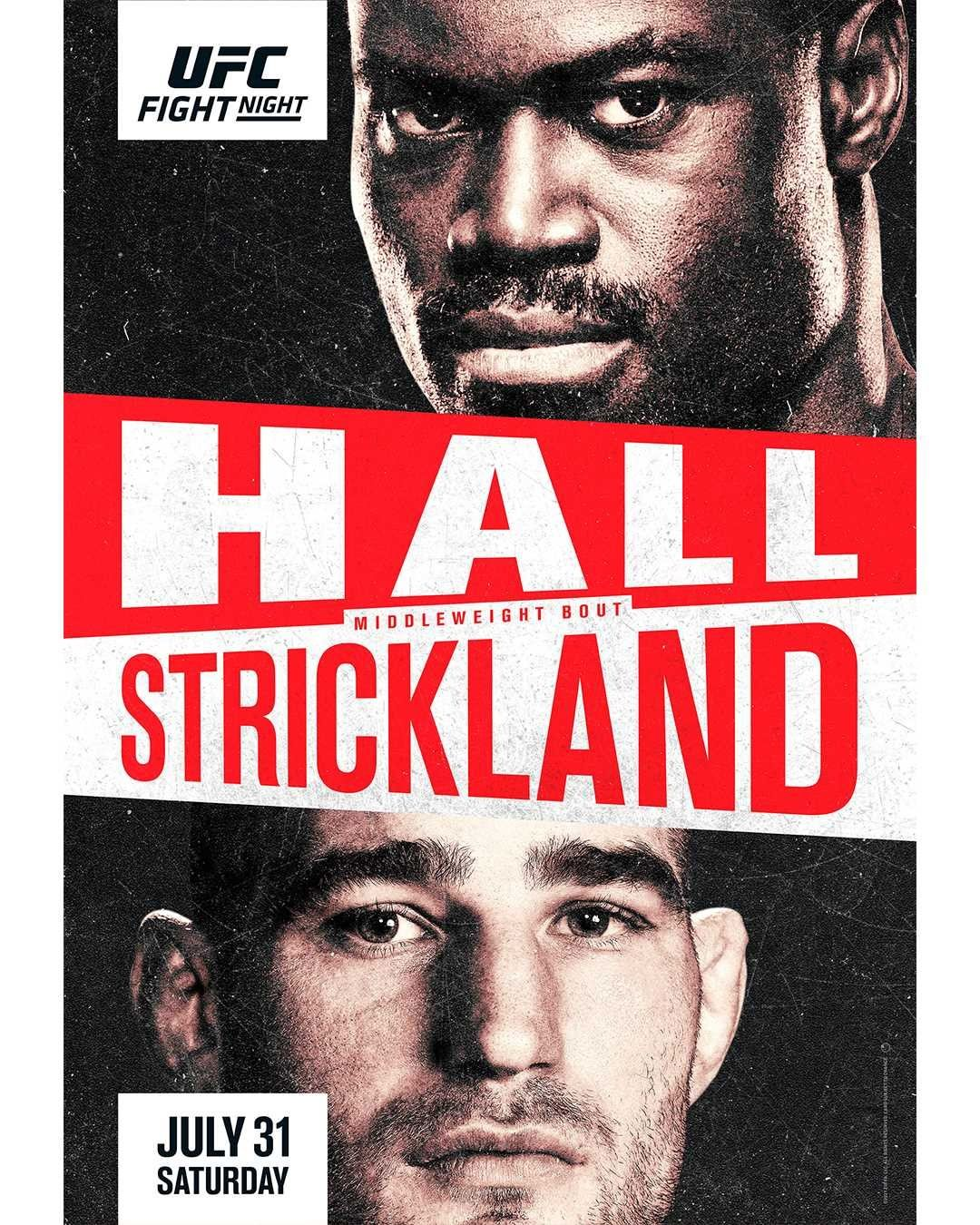 UFC Fight Night 193 Fight Card Poster