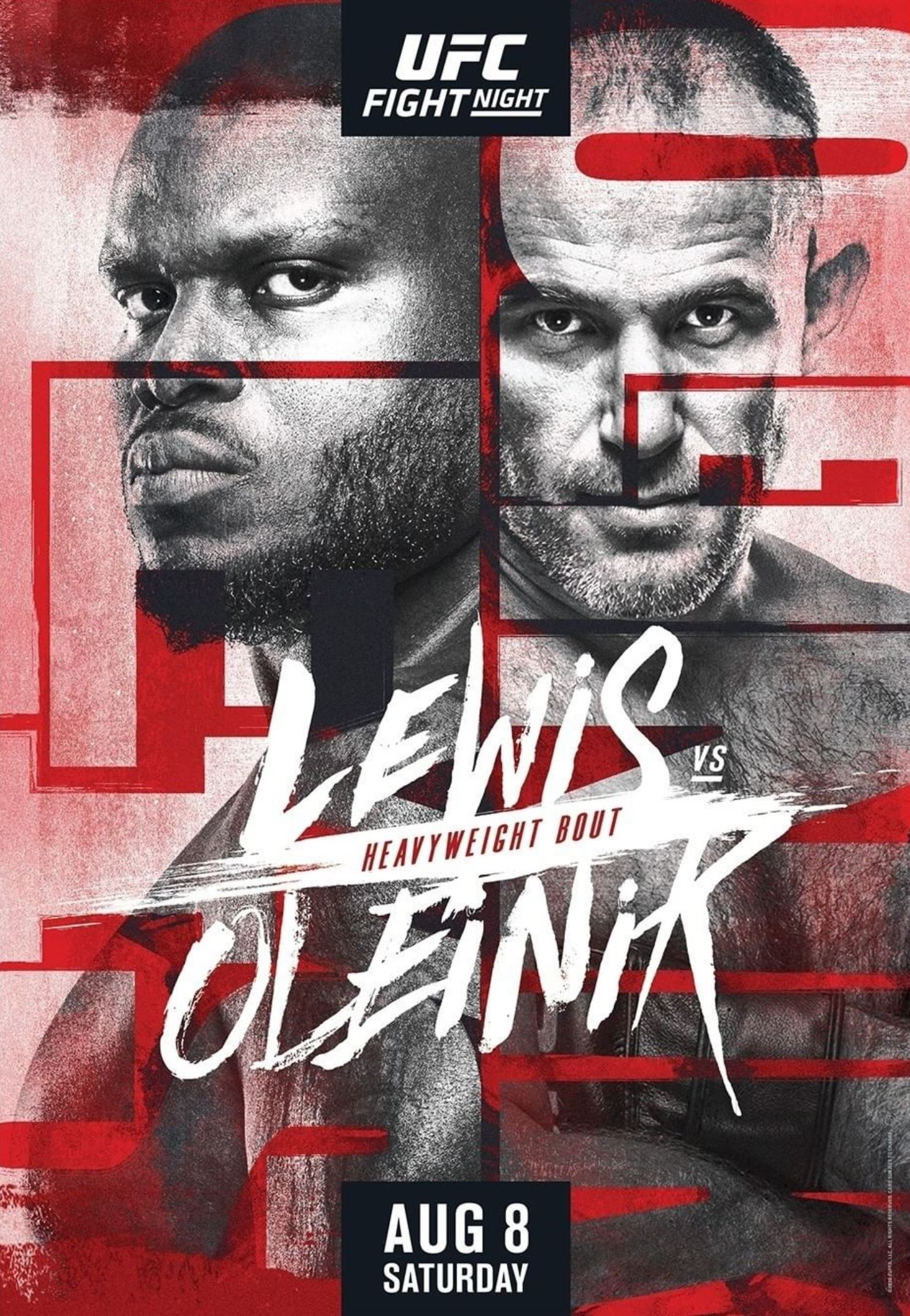 new UFC Fight Night 174 poster