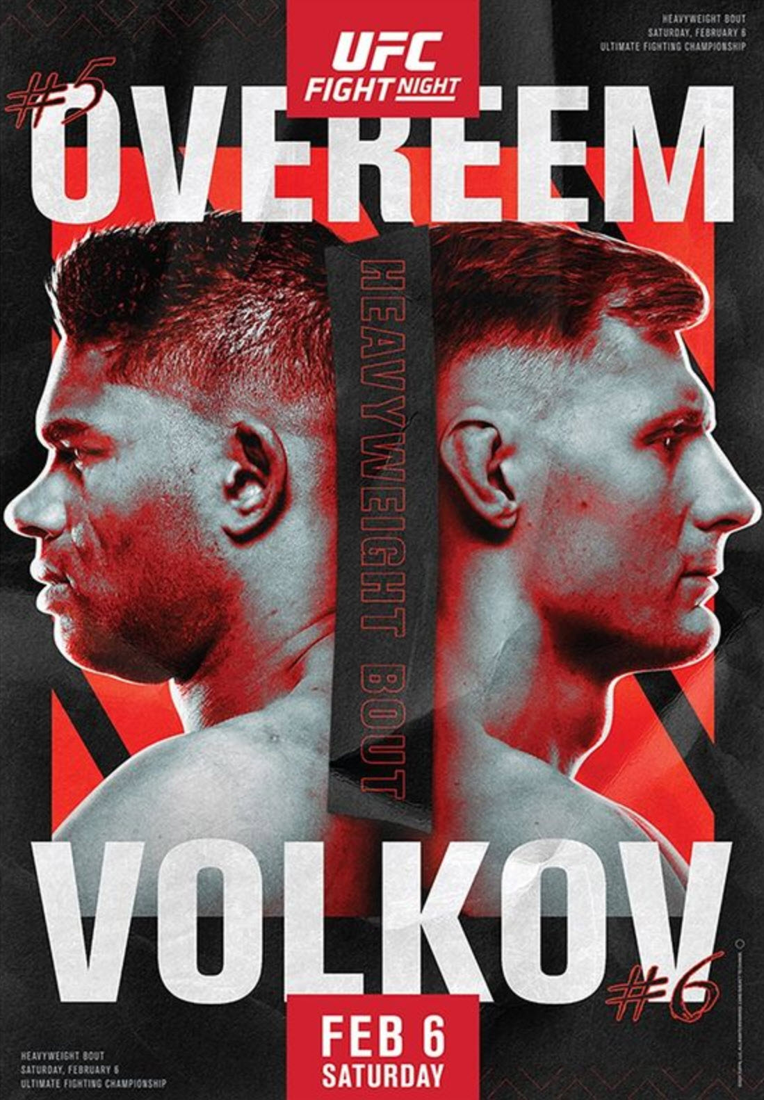 UFC Fight Night 184 Fight Card Poster