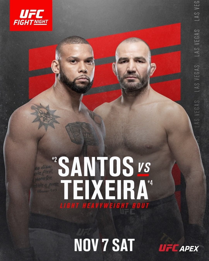 Thiago Santos vs. Glover Teixeira fight preview