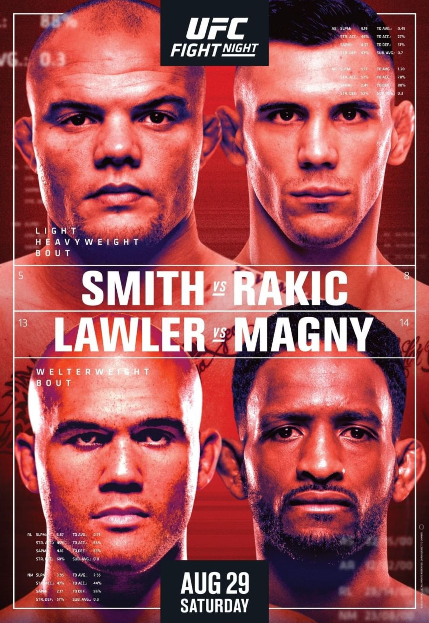 UFC Fight Night 175 results poster
