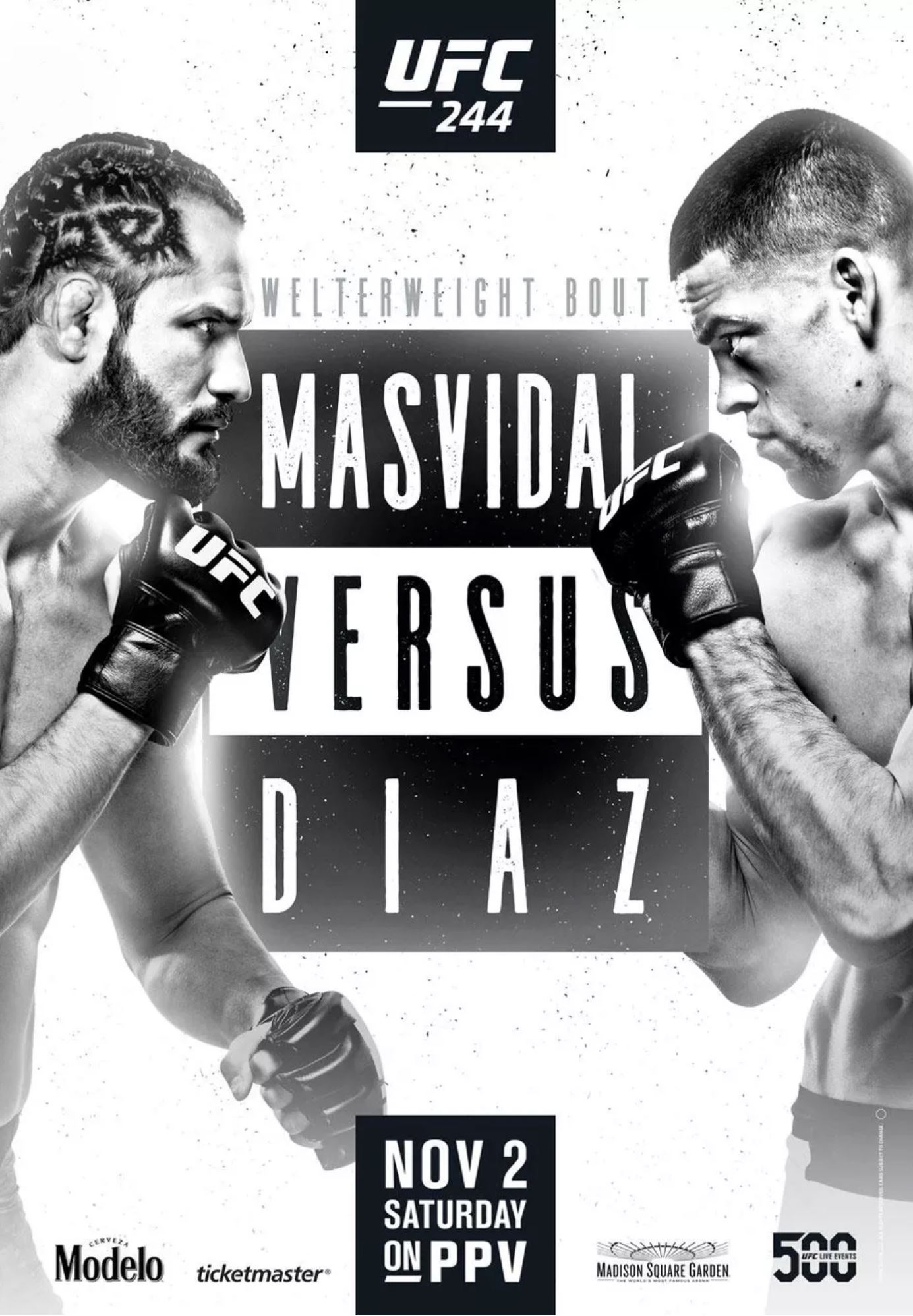 UFC 244 results poster