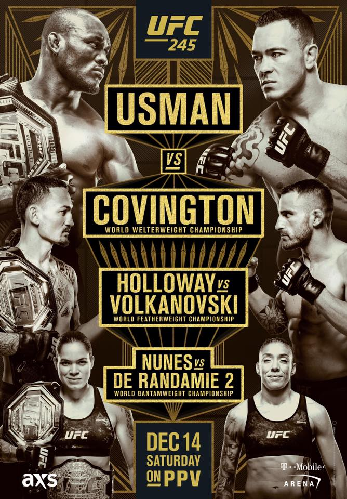 Kamaru Usman Vs Colby Covington Fight Stats Highlights