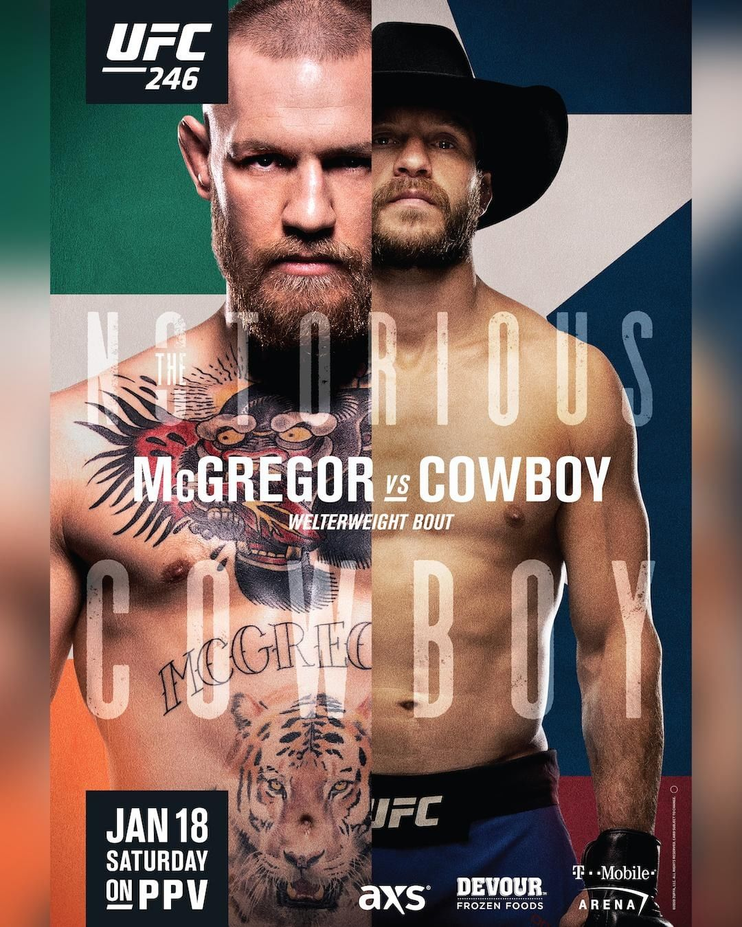 UFC 246 results poster