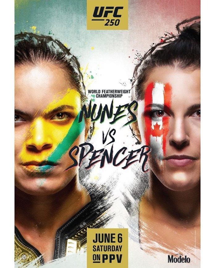 new UFC 250 poster