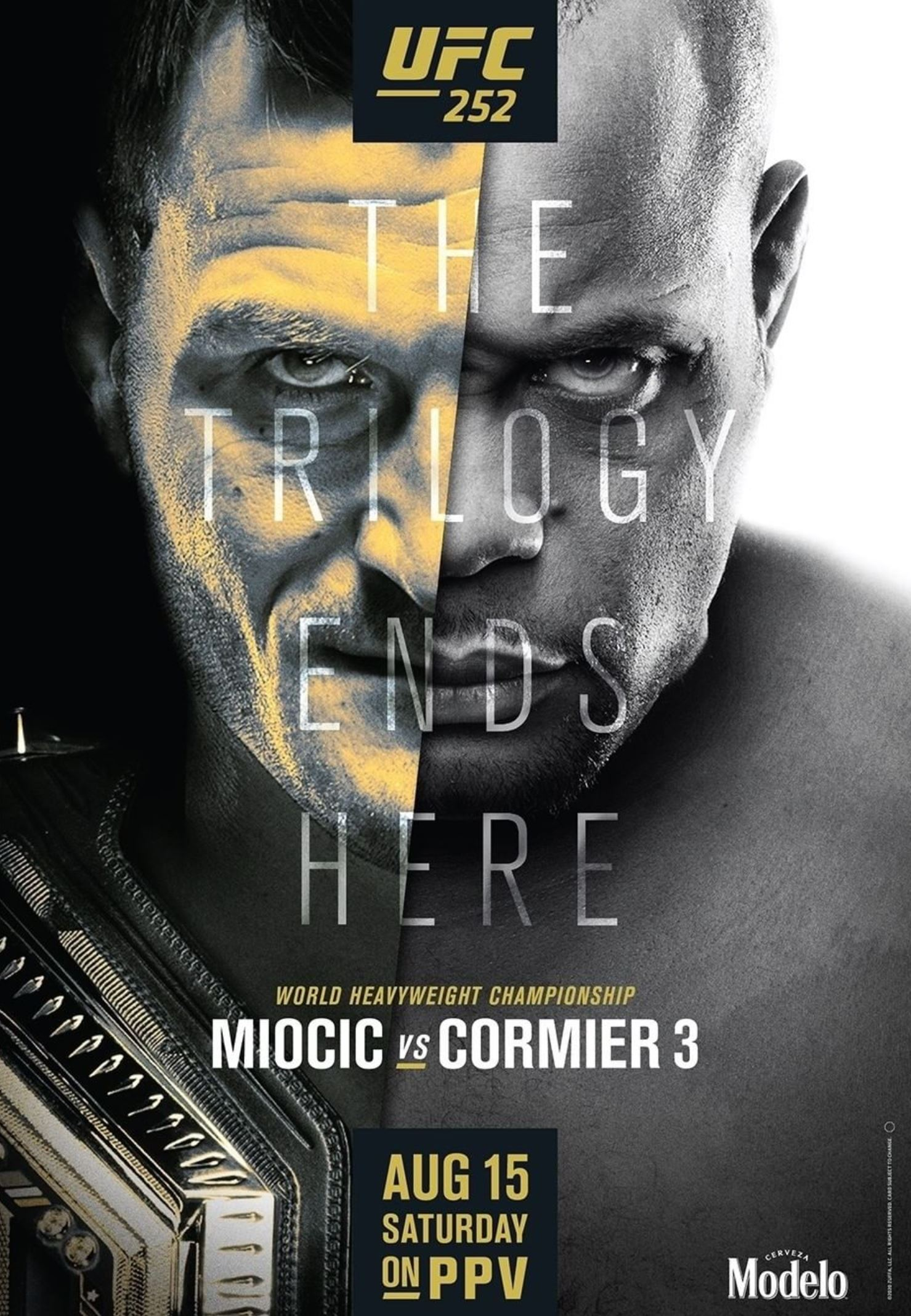UFC 252 results poster