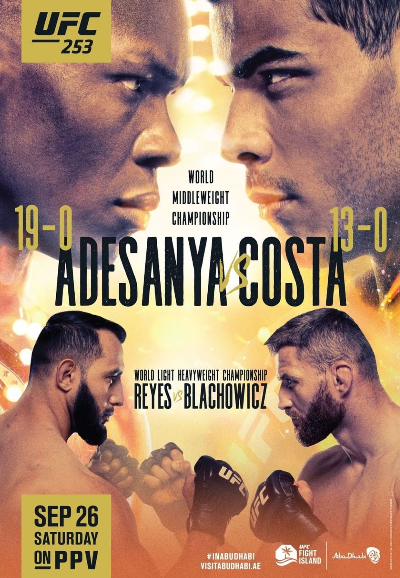 UFC 253 results poster