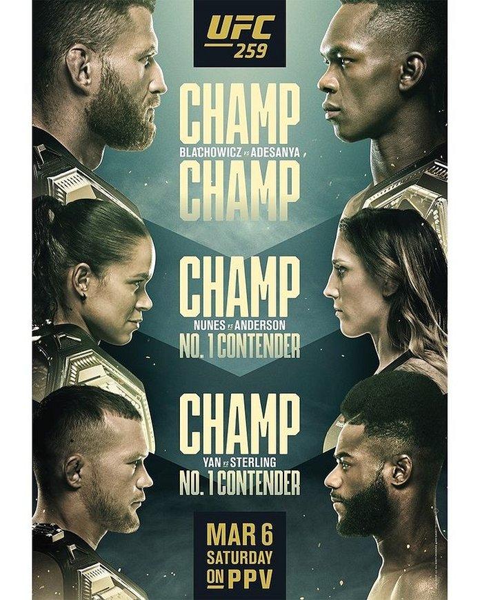 UFC 259 promo photo