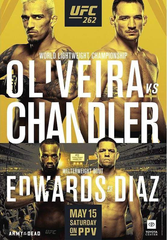 UFC 262 Fight Card Poster