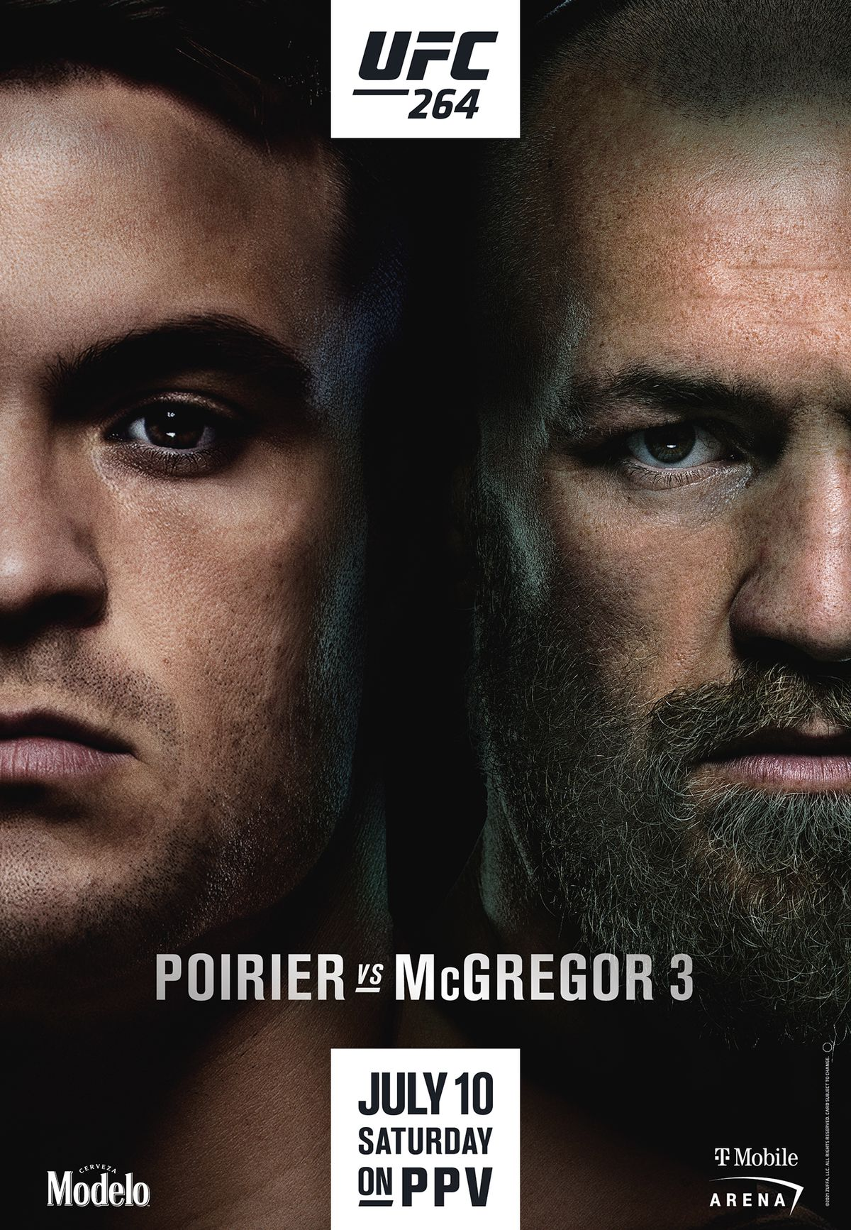 UFC 264 Fight Card Poster