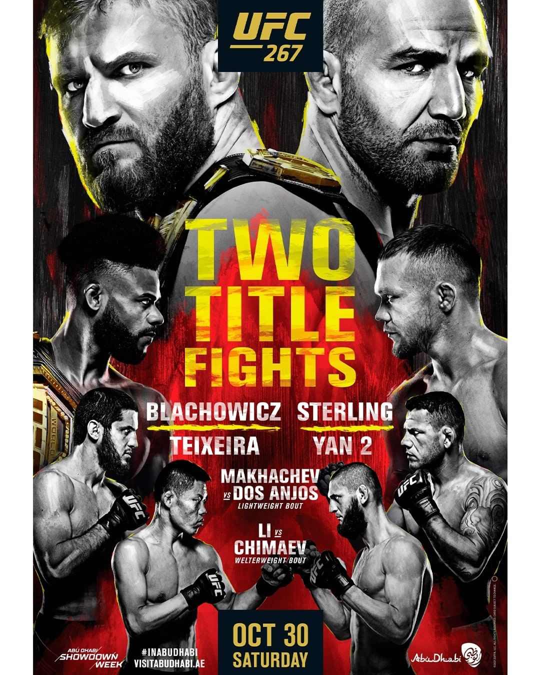 UFC 267 Fight Card Poster