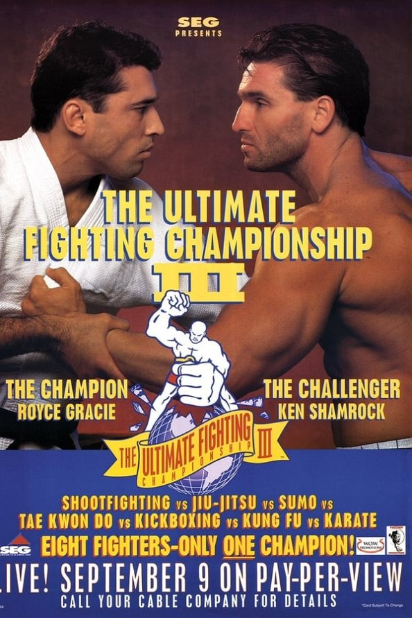 UFC 3 results poster