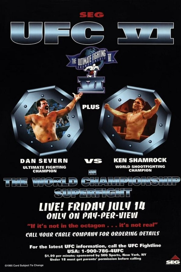 UFC 6 results poster