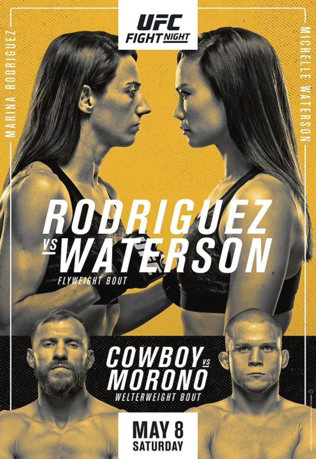UFC on ESPN 24 Results for 'Rodriguez vs. Waterson'