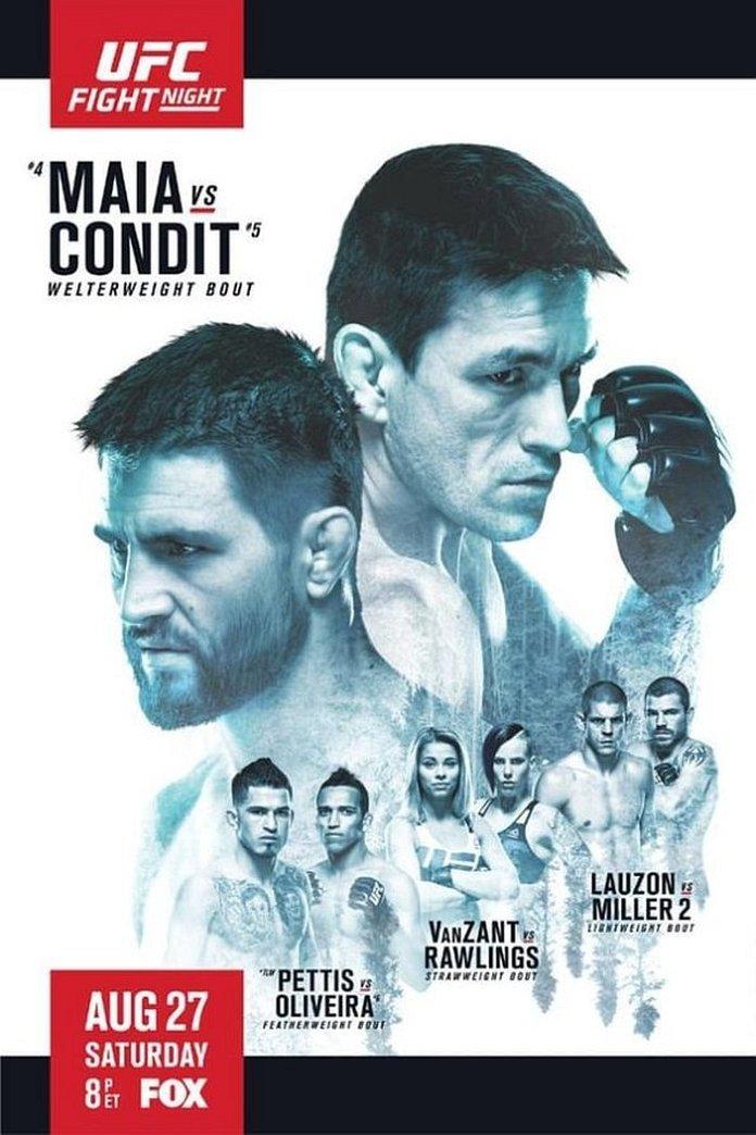 UFC on Fox 21: Maia vs. Condit poster