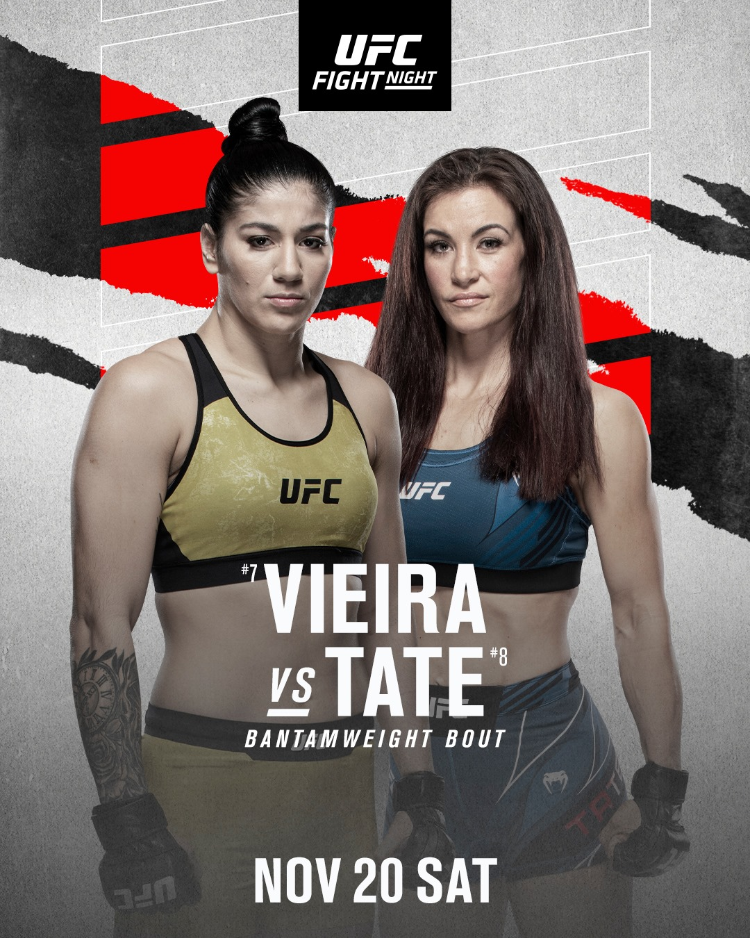 UFC Fight Night 200 Fight Card Poster