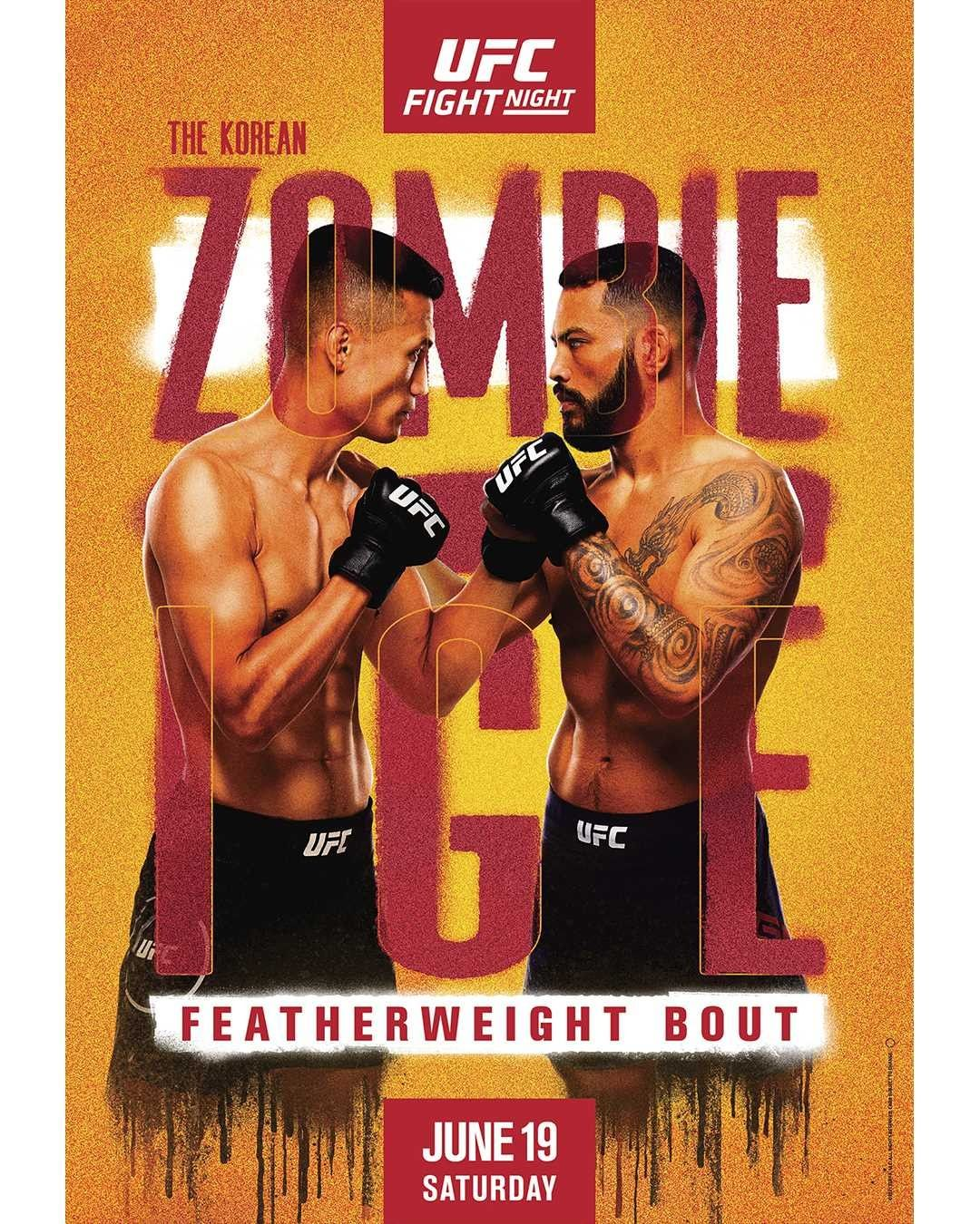 UFC on ESPN 25 Fight Card Poster